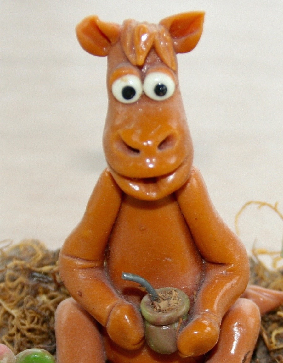 caballo con yerba mate