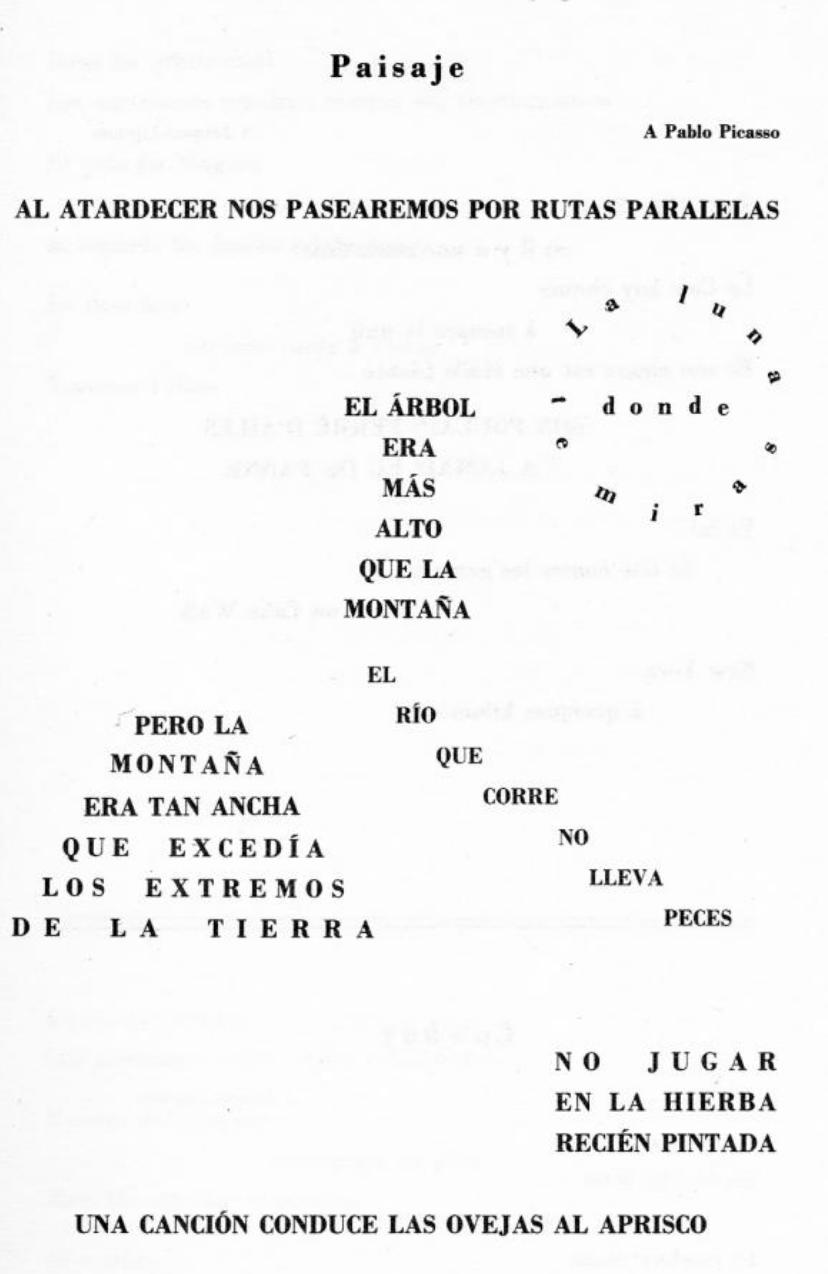 Paisaje en español