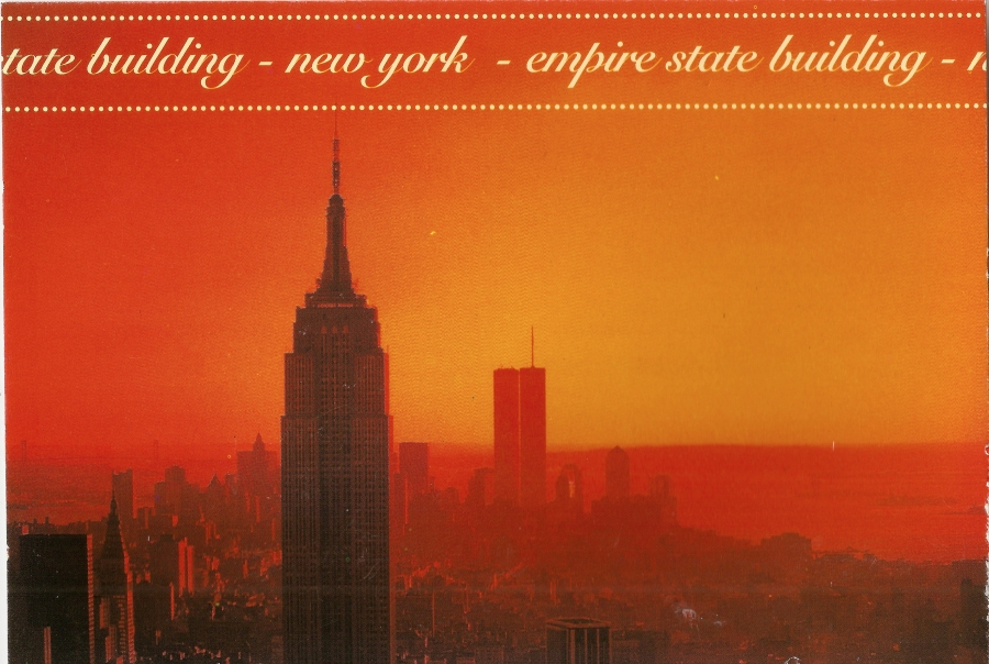 NY empire state sunset w:towers 1