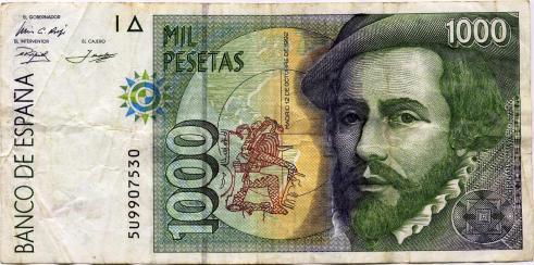 1000_pesetas,_12_de_octubre_de_1992,_Hernán_Cortés