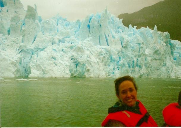 C by the glacier