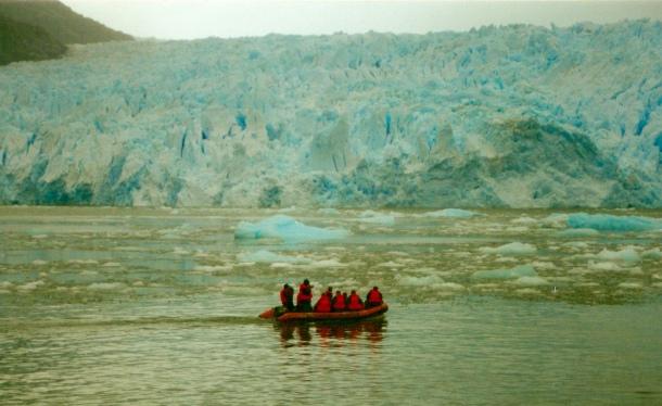 San Rafael Glacier with Boat