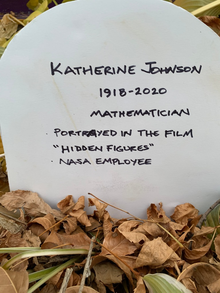 Katherine Johnson Tombstone Photo: Rebecca Cuningham